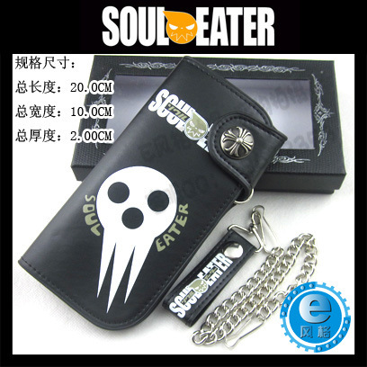 Soul Eater anime cartoon Wallet wholesale Soul Eater sign long purse(China (Mainland))