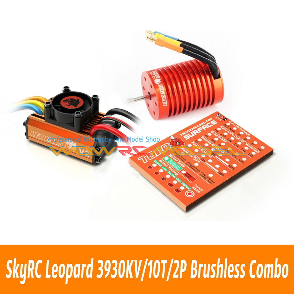 Skyrc Leopard 3930KV/10T/2P Brushless Motor + 60A ESC + Program Card Combo Set(China (Mainland))