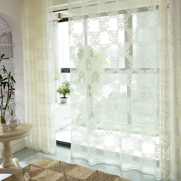 2016 New Luxury Living Room White Curtains Bedroom Sheer Curtains Tulle Curta
