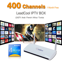 5pcs/Lot Leadcool Android Box Android TV Box Quad Core + One Month Iptv Subscription 400 Channels Iptv Arabic French Sport Canal