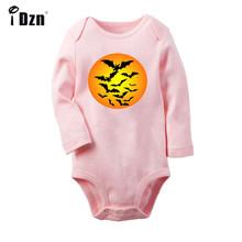 Альтернатива рок группа Happy Halloween Черный Летучая мышь дизайн новорожденных боди для малышей Одежда с длинным рукавом Onsies комбинезон(China)