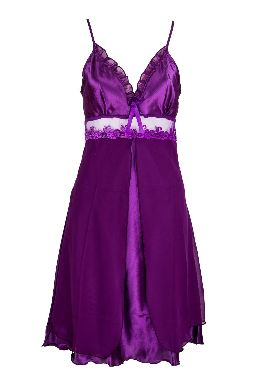 BISM Hot Women's Lace Lingerie Nightgown Babydoll Strap Sleepwear