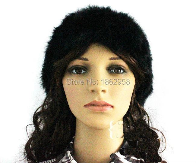 SJ114-01 New Arrival Net Knitted Real Rabbit Fur Headbands/Solid Color Elastic Fashion Headbands Furs(China (Mainland))