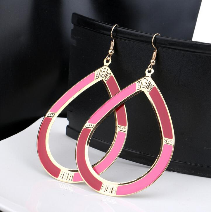 NEW 2015 Boho Style Elegant Oval Shape Vintage Drop Earring Women Earring(China (Mainland))