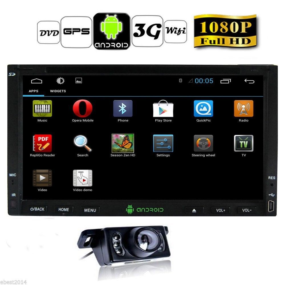 """2015 Pure Android 4.2 7"""" HD Double 2 Din Car GPS Navigation DVD Player 3G-Wifi Bluetooth In-dash Car PC Radio Stereo+Rear Camera(China (Mainland))"""