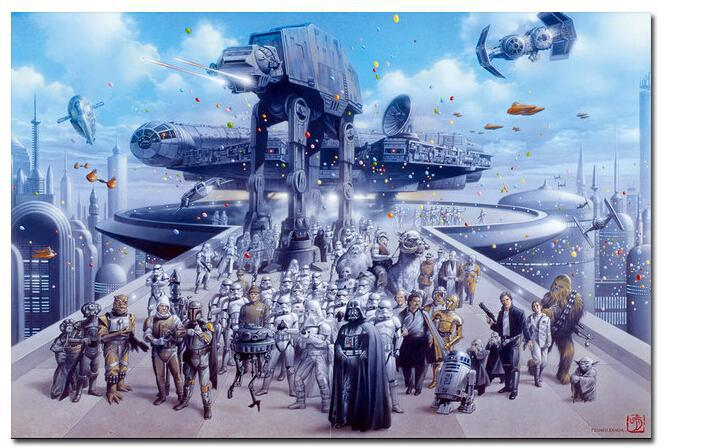 Custom Door Kitchen Wallpaper Posters Top STAR WARS Movie Wall Stickers Room Decoration 27x40cm(China (Mainland))