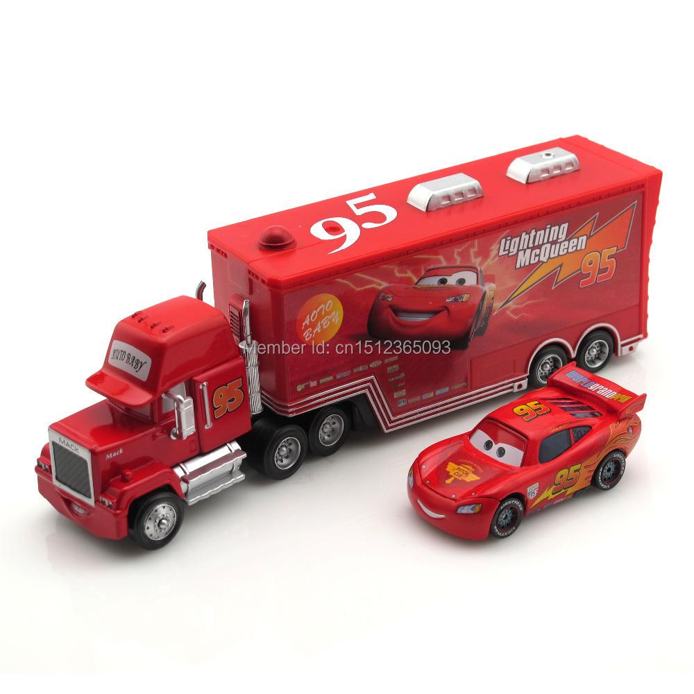 1/55 Pixar Cars No.95 MaiKun & Mack Uncle Metal Diecast Toy Car Free Shipping Loose(China (Mainland))