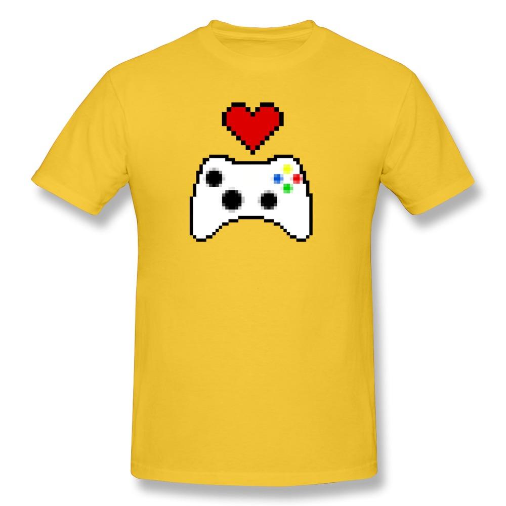 Latest O-Neck Heart Gaming Men's tshirt Hot Sale Organic Cotton t shirts for Boys(China (Mainland))