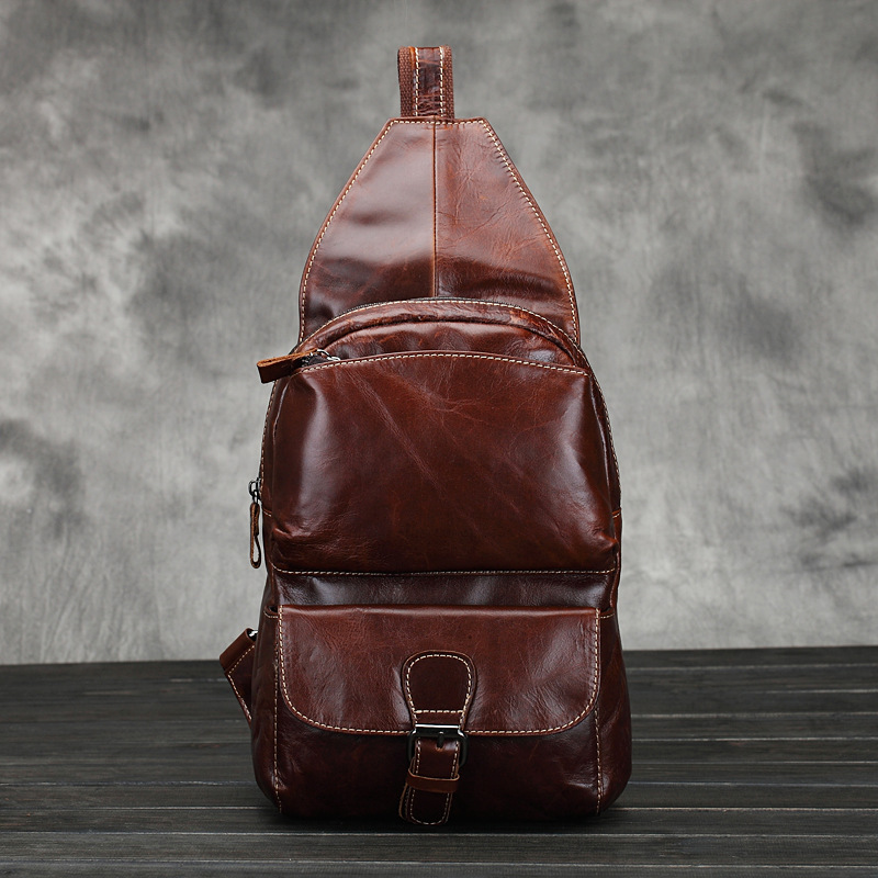 2015 retro fashion genuine leather messenger bags for men casual sports travel men shoulder bag male crossbody bag man chest bag