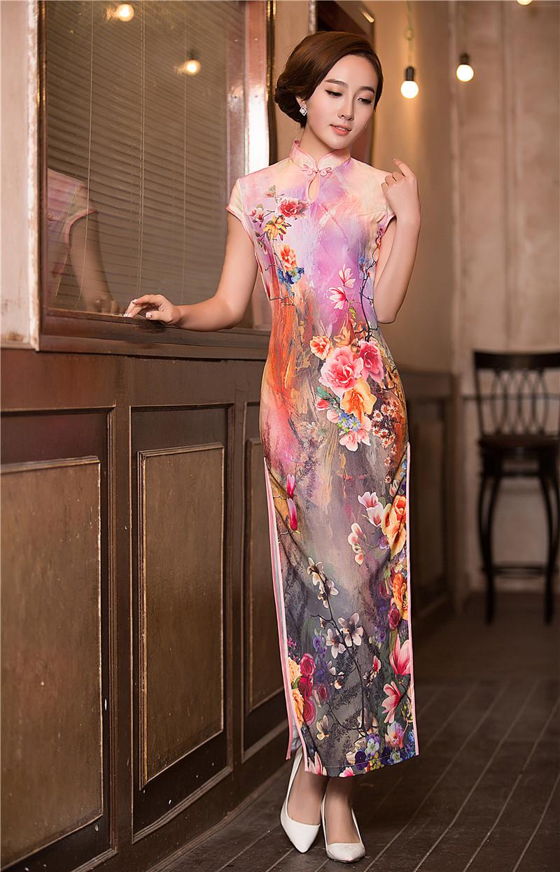 Chinese long dress qipao