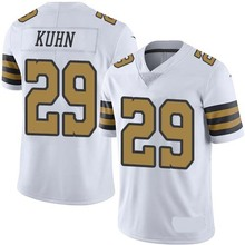 Men's #29 John Kuhn Elite White Rush Football Jersey 100% Stitched(China (Mainland))