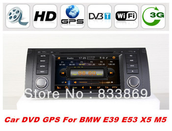 "single din 7 ""car dvd player for BMW E39 E53 X5 M5 with GPS Navi Bluetooth phone IPOD TV Radio/RDS 3D UI PIP TV AUX IN 3g/wifi"