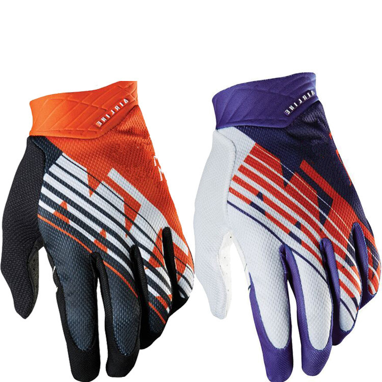 Free shipping Hot Sale 2015 New Air Line KTM BMX MX Bicycle Cycling Gloves Black Orange Bike Polyester  Off Road Moto Gloves<br><br>Aliexpress