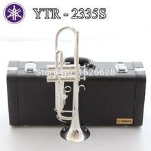 Free Shipping New Bach Brass Trumpet 2335S Bb Silver Plated Trompeta Profissional Instrumentos Case Mouthpiece(China (Mainland))