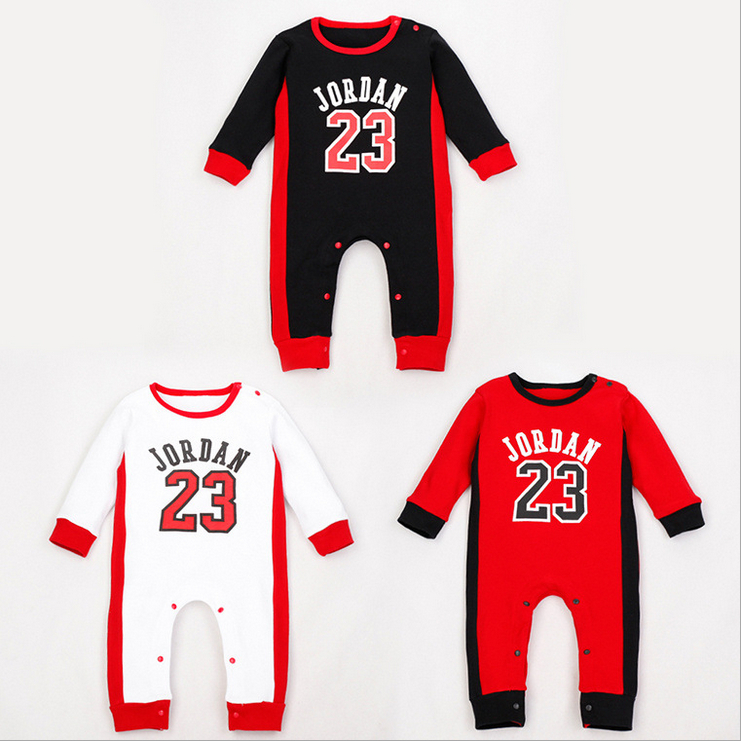 2015 New Fashion Brand Baby Jumpsuit sportswear Autumn Winter Baby Rompers Cotton Newborn basketball clothes Baby Clothing(China (Mainland))