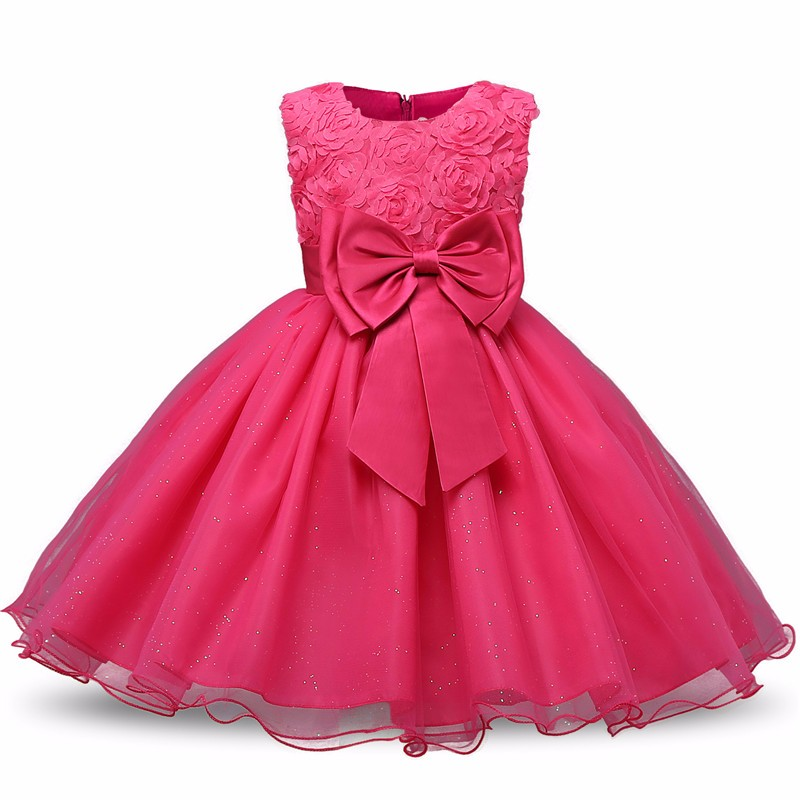 Princess Flower Girl Dress Summer Tutu Wedding Birthday Party Kids