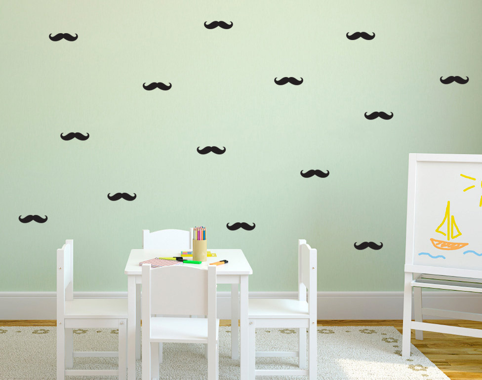 Car mustache promotion shop for promotional car mustache for Kitchen cabinets lowes with removable vinyl wall art decals stickers