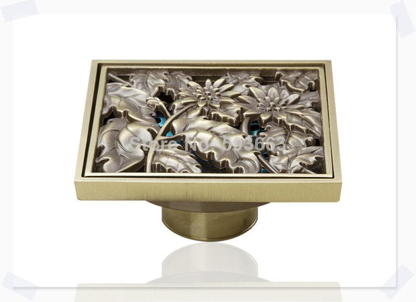 e pak5402 Construction Real Estate Fashion Ross Antique Brass Grate Floor Register Waste Drain 4 x