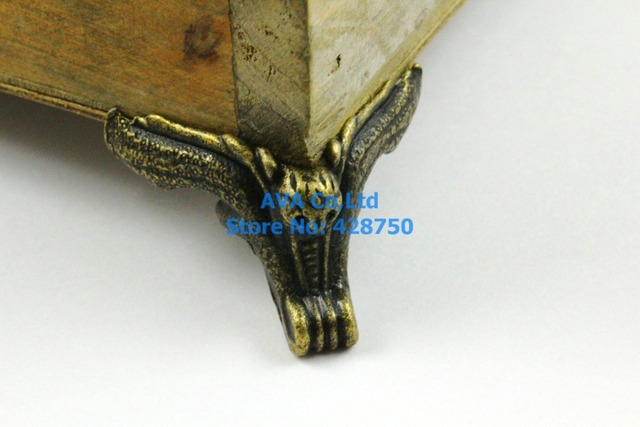 4 Pieces Antique Brass Jewelry Box Feet Animal Box Leg 42x32mm