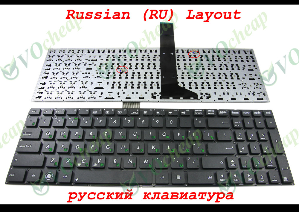 New Laptop keyboard for Asus X550 X550C X501 X501A X501U X501EI X501XE X501XI X502 X550CC X550VB X550V X550VC X550VL Russian RU(China (Mainland))