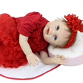 Limited Collection Cloth Body 22 Inch Reborn Doll Girl Lifelike Silicone Newborn Babies Dolls With Red