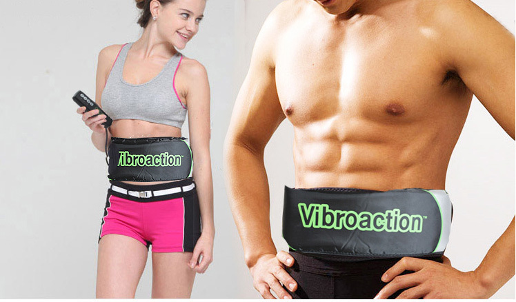 Free Shipping Drop Shipping Vibro Action Vibroaction Belt Shape Massager Belt Slimming Massage Belt(China (Mainland))