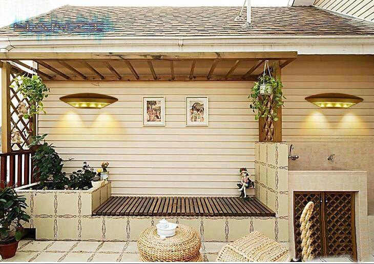 Купить Открытый водонепроницаемый теплый белый из светодиодов бра проход балкон простой стены сада открытый стены бра водонепроницаемый свет сада