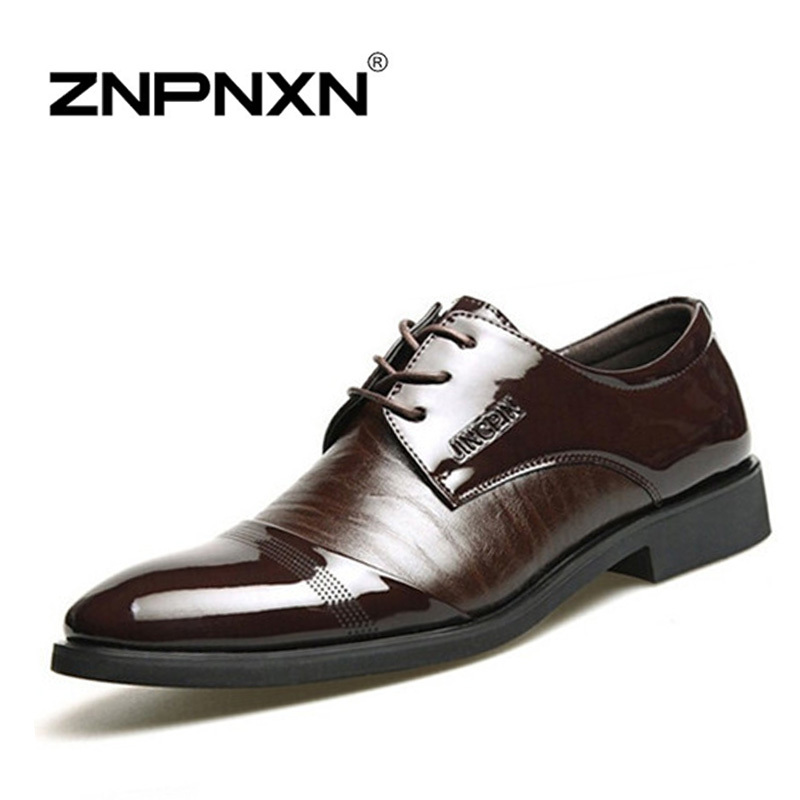 New 2015 Fashion Men Shoes Leather Shoes Men's Flats Shoes Low men Oxford Shoes(China (Mainland))
