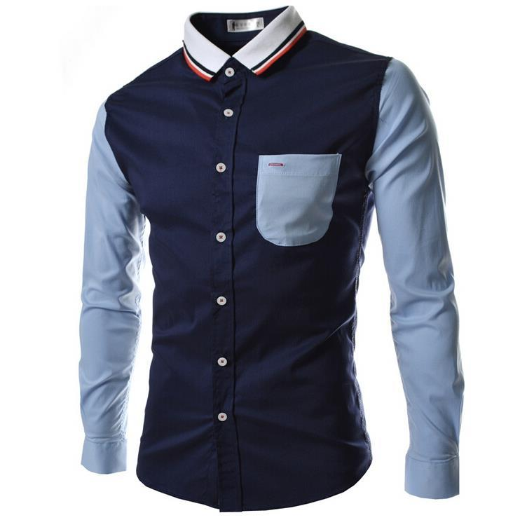 2015 New arrival 20 Colors Men's Western Fashion Long Sleeve Shirts,Mens Casual Slim Fit Mens Dress Shirts ,SIZE M-2XL,G2940(China (Mainland))