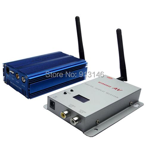 Long range dark blue wireless AV transmitter receiver cctv accessories 2.4GHz 5000mW 8CH available - Hunting Camera store