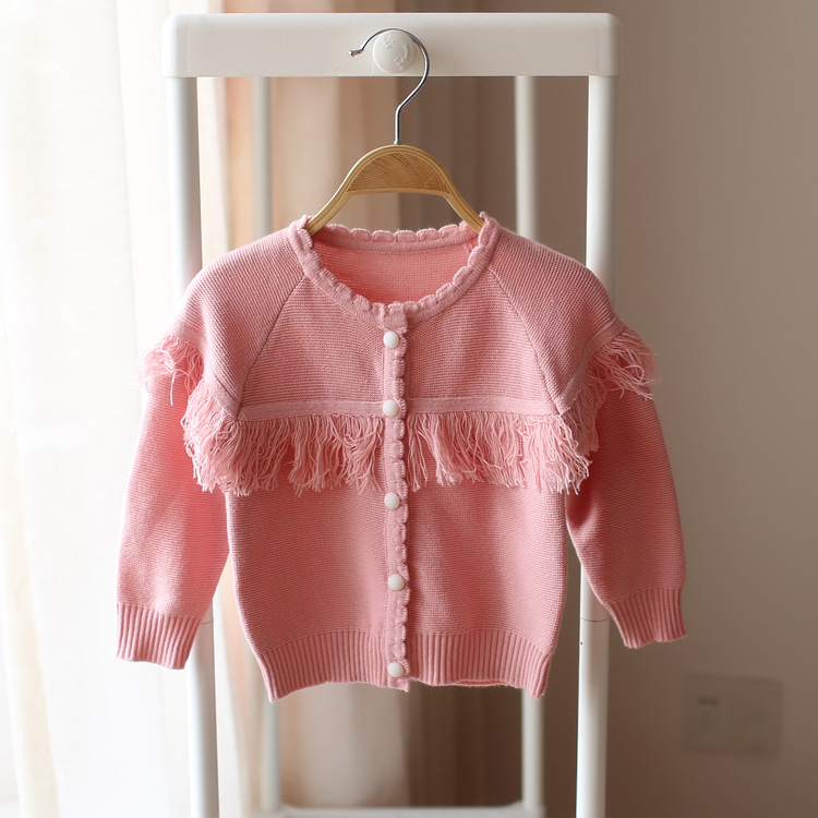 2016 spring and autumn new style children knitted sweater cardigan sweater fashion cute baby girls beautiful sweater()