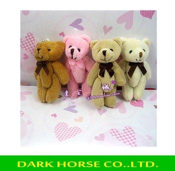 Free Shipping teddy bears stuffed animals,plush toys,plush,10pcs/lot, Tinny bear,, small bears. Could use for cellphone, bag