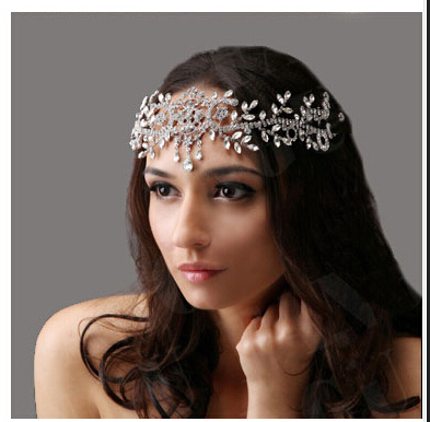 Angel Rhinestone Wedding Hair Accessories Tiaras Crown Bridal Jewelry Wedding Forehead Hair Accessory