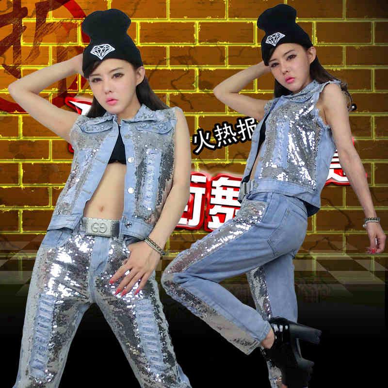 2016 Free Shipping Autumn Winter Streetwear Hip Hop  Women Casual Jazz dance Short Jacket Coat and Long PantsОдежда и ак�е��уары<br><br><br>Aliexpress