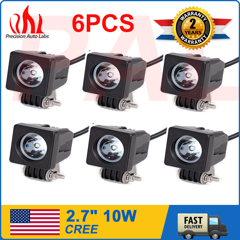 6pcs 10W Cree LED Work Light Spot Lamp Driving Fog Light Car Motorcycle Boat ATV(China (Mainland))