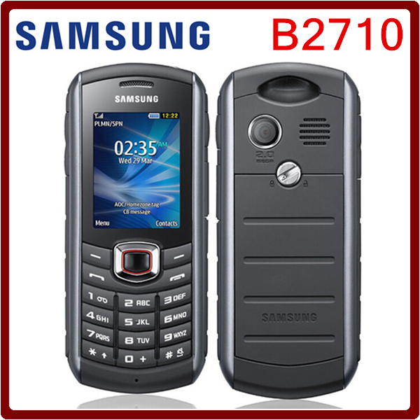 B2710 Original Unlocked Samsung B2710 1300mAh 2MP GPS 2.0 Inches 3G Waterproof Refurbished Cellphone Free Shipping(China (Mainland))