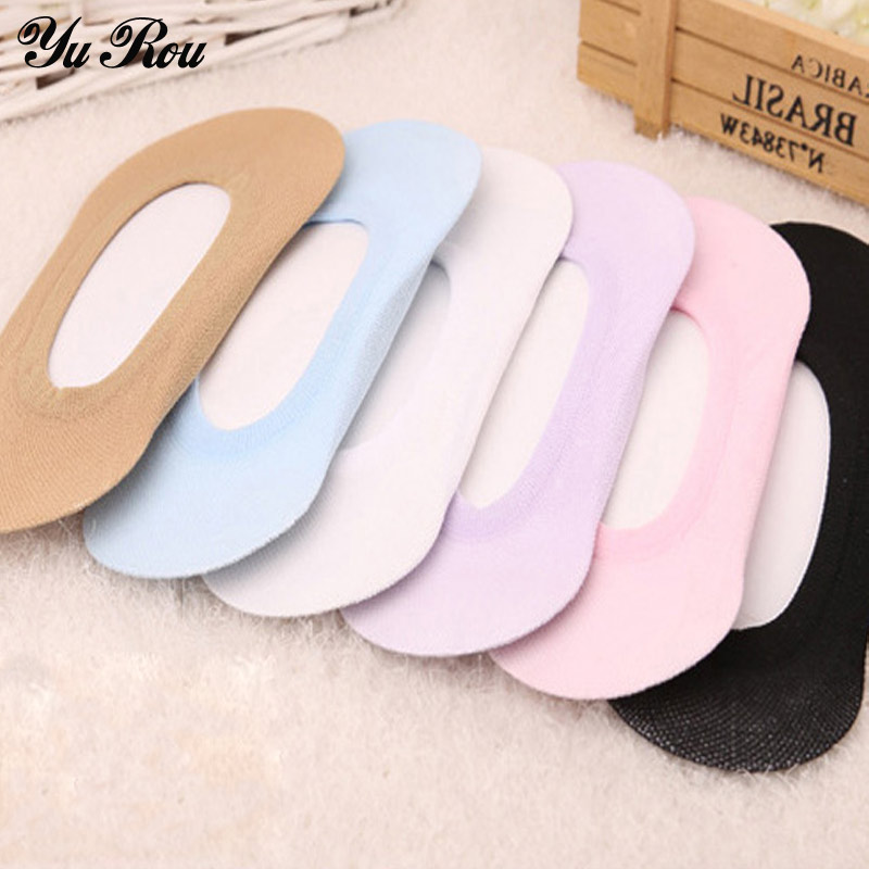 YUROU Invisible Socks 6Pairs/Lot Sock Slippers Shallow Mouth Solid Color Women Socks For High Heels Girls Cute Thin Short Sock(China (Mainland))