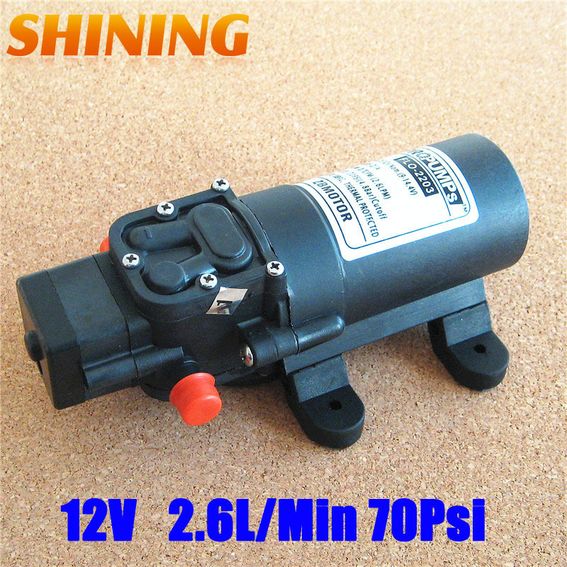 12V DC 70Psi Diaphragm Water Pump For Filtering Purification, High Pressure Food Beverage Filling Pump Automatic Pressure Switch(China (Mainland))