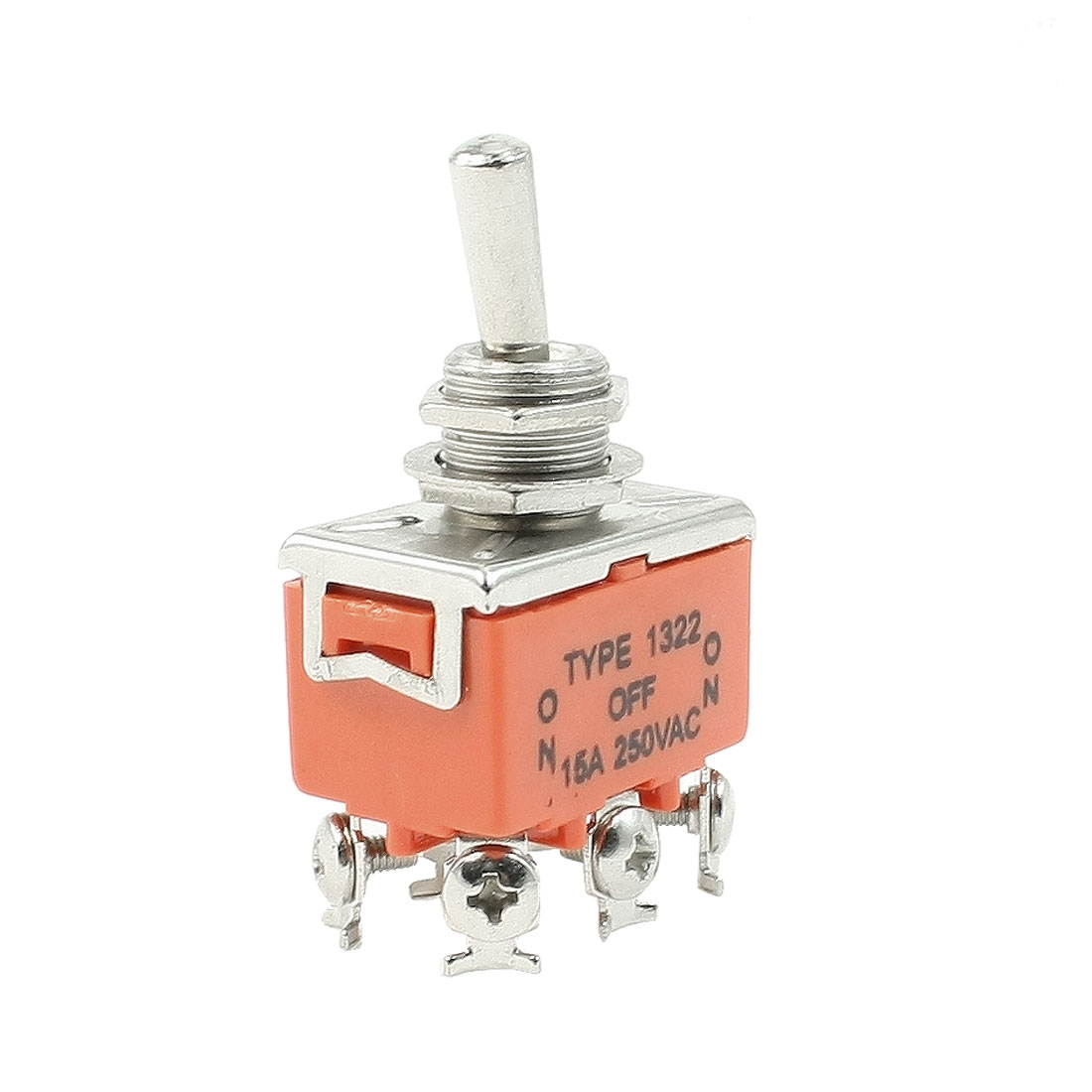 UXCELL Ac 250V 15A On/Off/On Dpdt Locking Toggle Switch W 6 Terminals(China (Mainland))