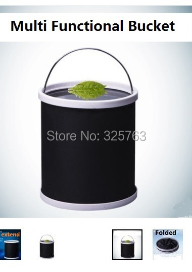 foldable water bucket car wash portable water resstant buckets for fishing camping stowing(China (Mainland))