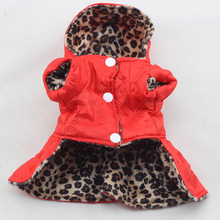 Buy Cute Pets Dogs Leopard Dress Tops Puppy Cotton Hoodie Clothes XS-XL Costumes for $2.50 in AliExpress store