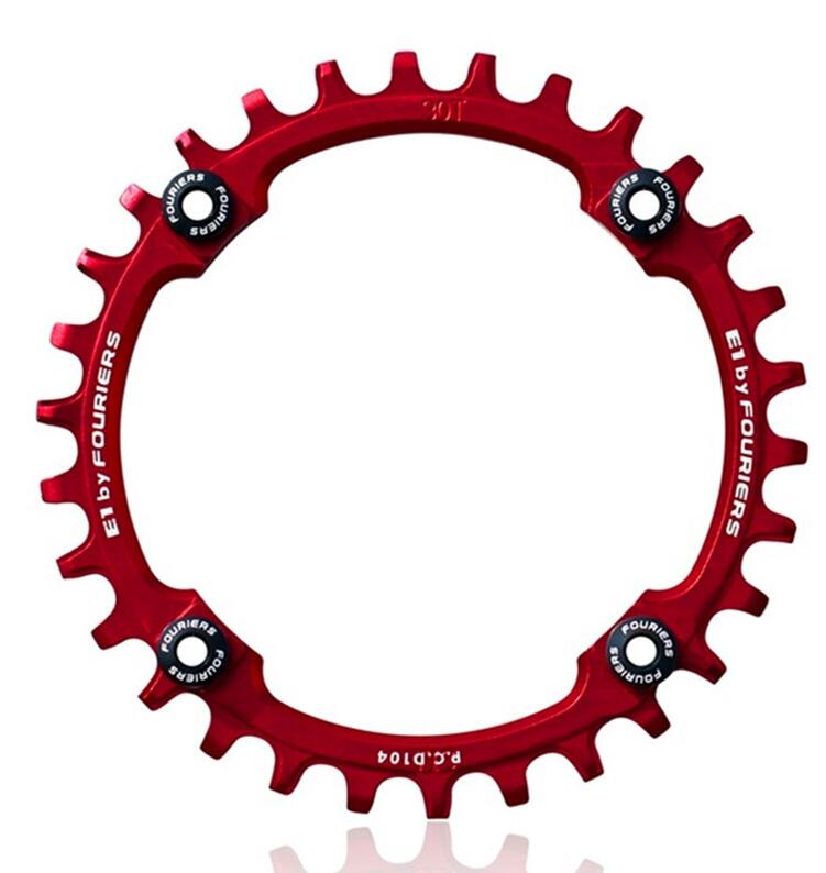 Fouriers CNC Single Chainring P.C.D 104*4mm Bike Bicycle Chain Ring 1 System Compatible For S H I M A N O Narrow-wide Tooth(China (Mainland))