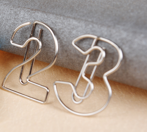 Office and school supplies silver paperclips special design number shape series(China (Mainland))