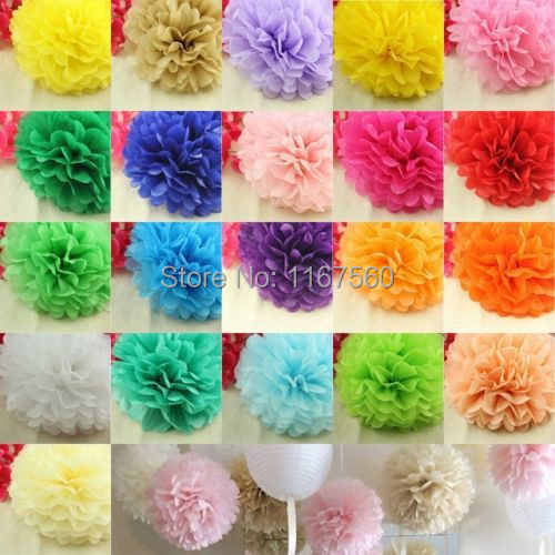 (6 inches )15cm Tissue Poms Paper Flowers Ball For New Year And Birthday wedding Parties Decoration Free shipping(China (Mainland))