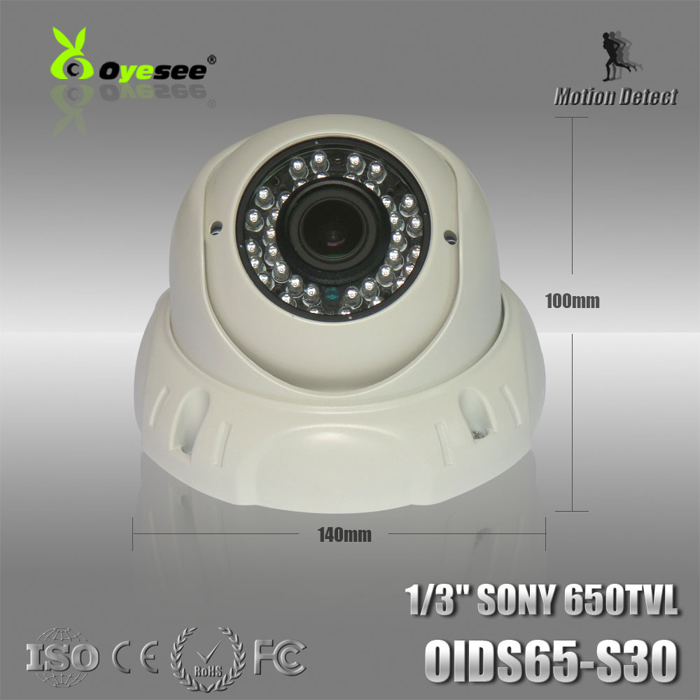 """OIDS65-S30 Security camera Color 1/3"""" 650TVL CCD 3.6mm fixed lens Day/Night Vision Dome Camera covert cctv camera(China (Mainland))"""
