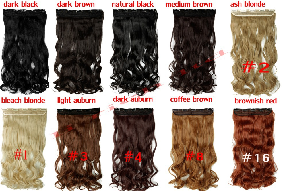 Whole Sale 17/23  Curly Any Colors Clip In Hair Extension One Piece Real Thick Hairpiece Brown Blonde Black Free Fast Shipping<br><br>Aliexpress