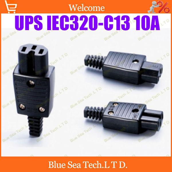Free Shipping 10pcs IEC320-C13 Power Cable Cord Connector C13 female Receptacle PDU power detachable socket,UPS socket 10A/250V