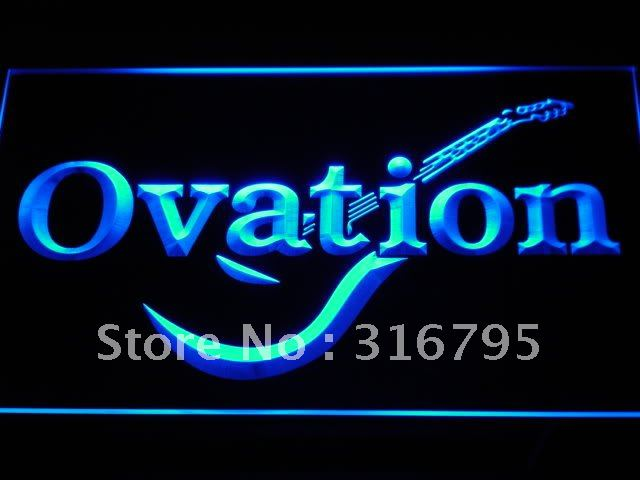 k170-b Ovation Guitars Acoustic Music LED Neon Light Sign Wholesale Dropshipping On/ Off Switch 7 colors DHL(China (Mainland))