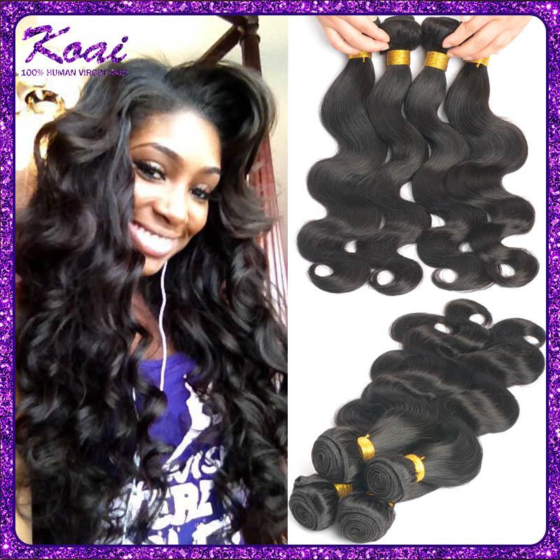 7A Grade Brazilian Virgin Hair Body Wave 4 pieces Remy Human Hair Weave Bundles Rosa Hair Products Brazilian Body Wave Hair Care(China (Mainland))