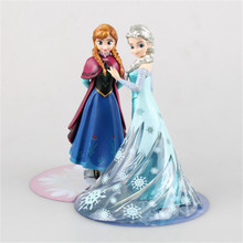 Brand New 14.5CM The Snow Queen Elsa Princess Anna PVC Model Action Figure Movie Doll Toys Cute Gifts for Kids Children